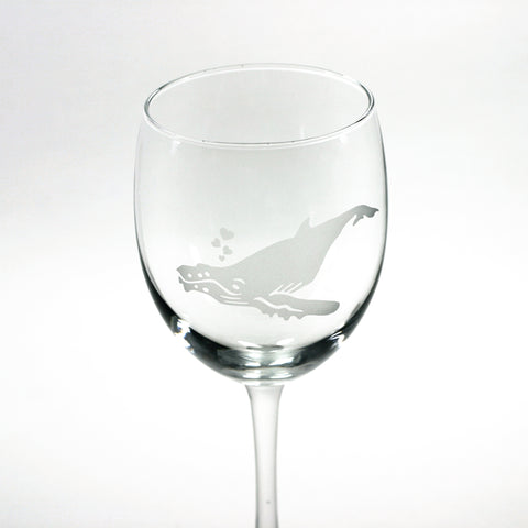 Humpback whale wine glass by Bread and Badger