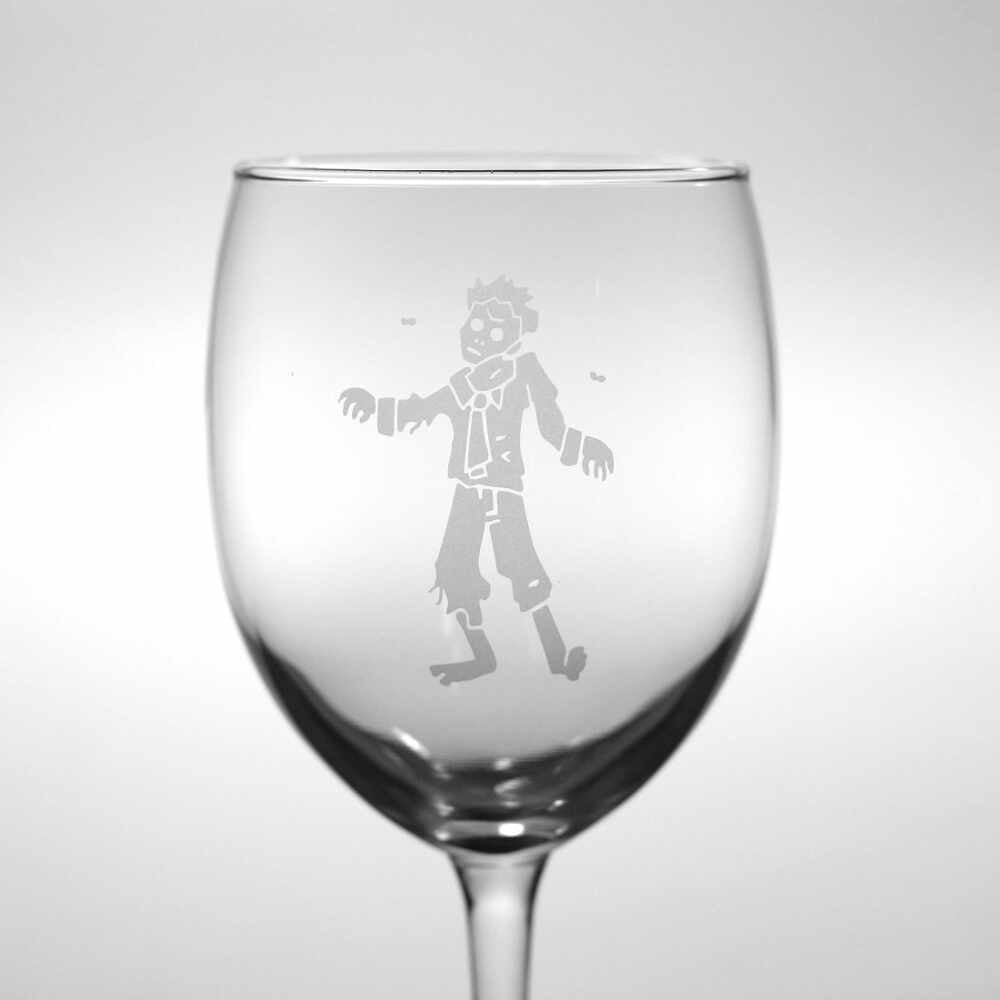 Zombie wine glass by Bread and Badger
