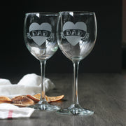 Dad wine glass set of 2