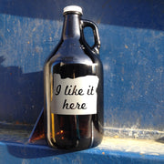 Beer Growler - etched glassware