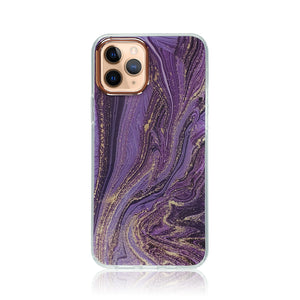 Amethyst Marble Silicon Case
