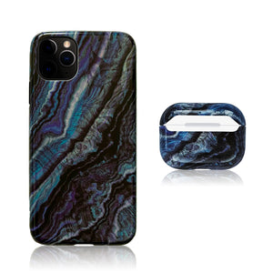 Blue and Black 3D Hybrid iPhone Case with AirPods Pro