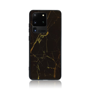 Black and Gold Tempered Glass Samsung Case