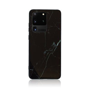 Black and White Tempered Glass Samsung Case
