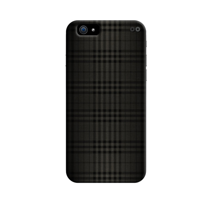 Black Checked Pattern 3D Case