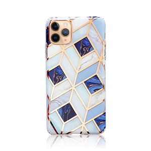 Blue and Rose Gold Silicon Case