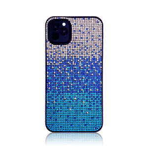 Crystal Gradient Blue Silicon iPhone Case