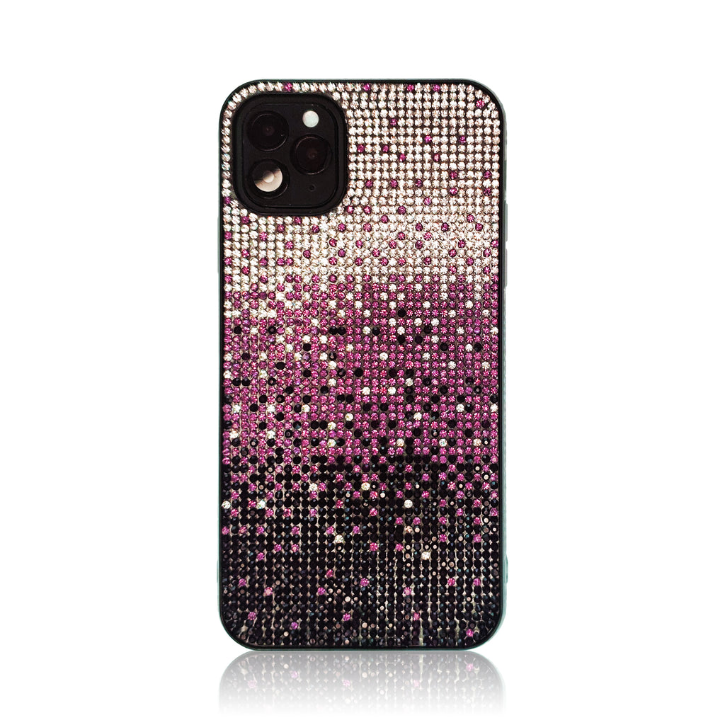 Crystal Gradient Purple Silicon iPhone Case