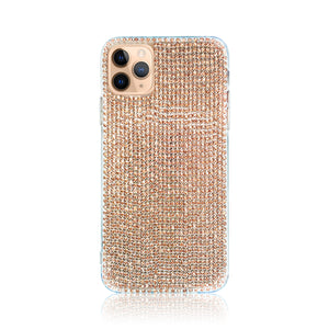 Crystal Rose Gold Silicon iPhone Case