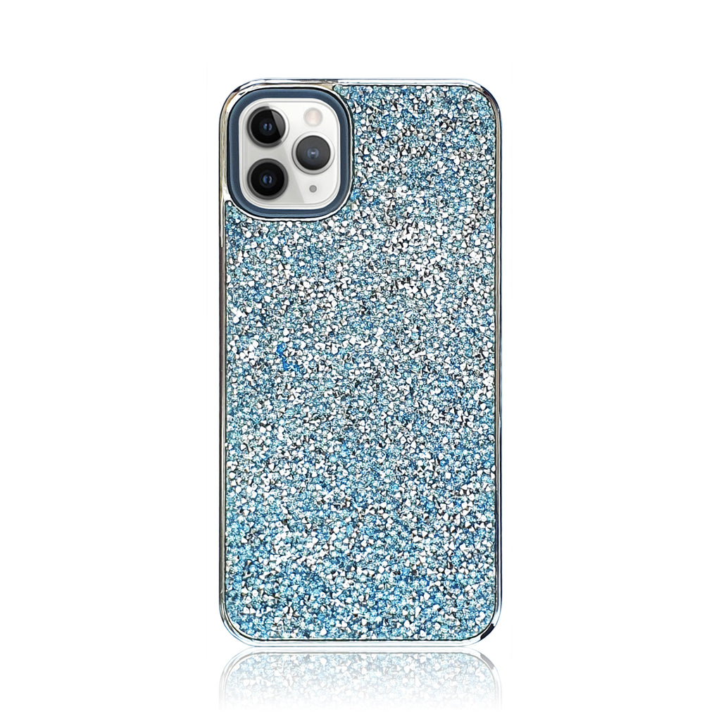Crystal Studded Blue Silicon iPhone Case