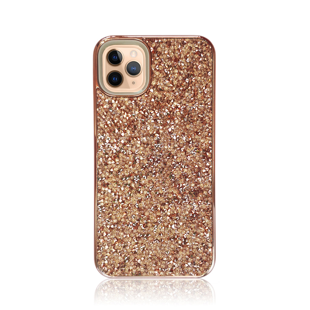 Crystal Studded Rose Gold Silicon iPhone Case