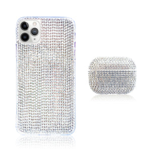 Crystal White Silicon iPhone Case with AirPods Pro