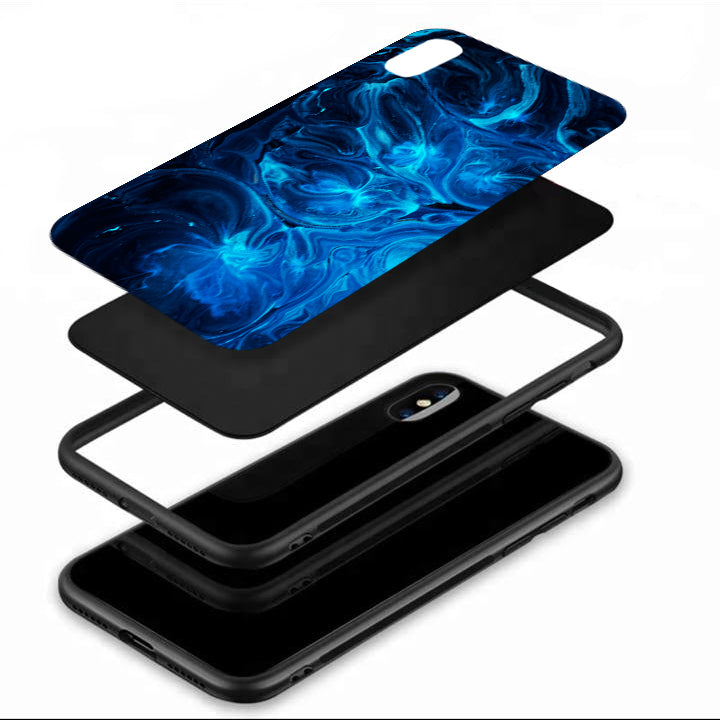 Electric Sea Tempered Glass Case
