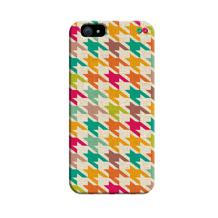 Houndstooth Fabric Pattern 3D Case