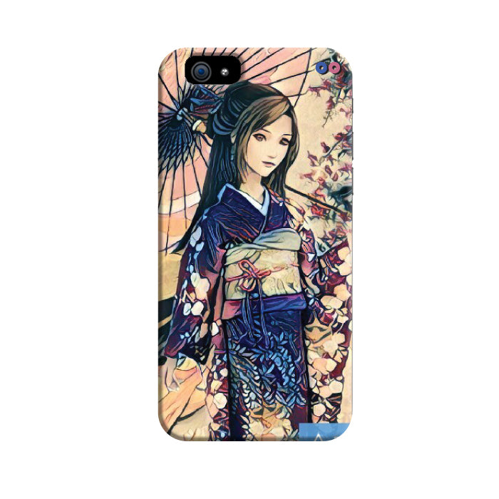 Japanese Girl Blue 3D Case