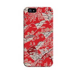 Red Katazome (Dyed Textile Panel) 3D Case