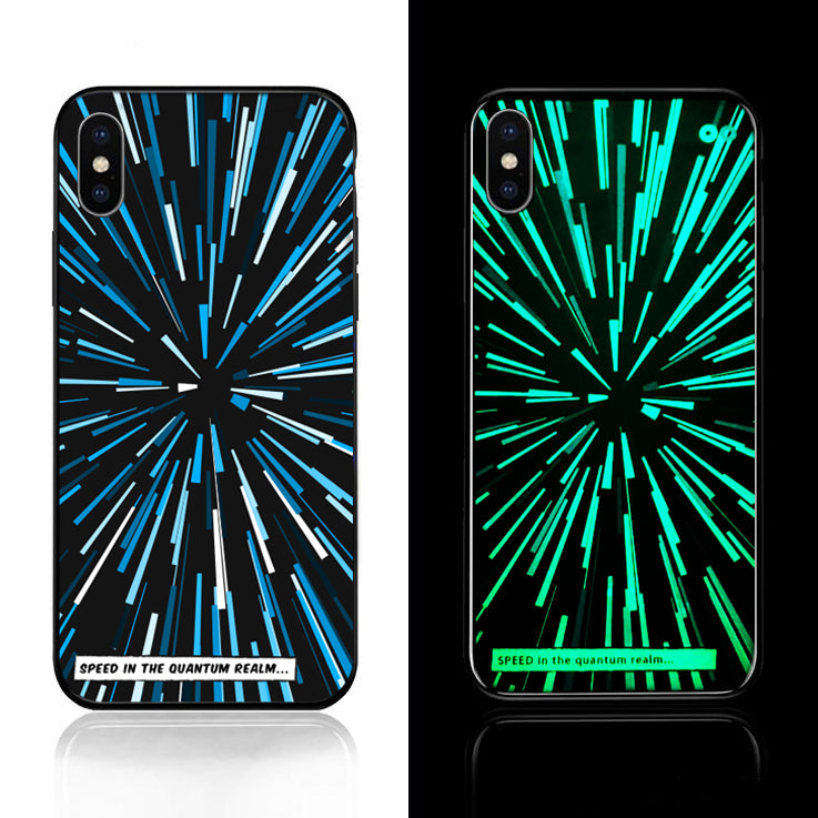 Light Speed Glow in the Dark Tempered Glass Case