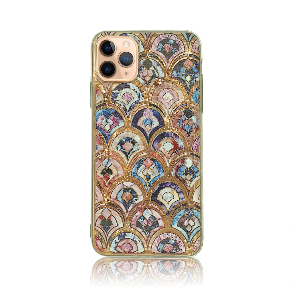 Painted Liquid Glitter Silicon Case