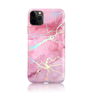 Pink Silver Holographic Silicon Case