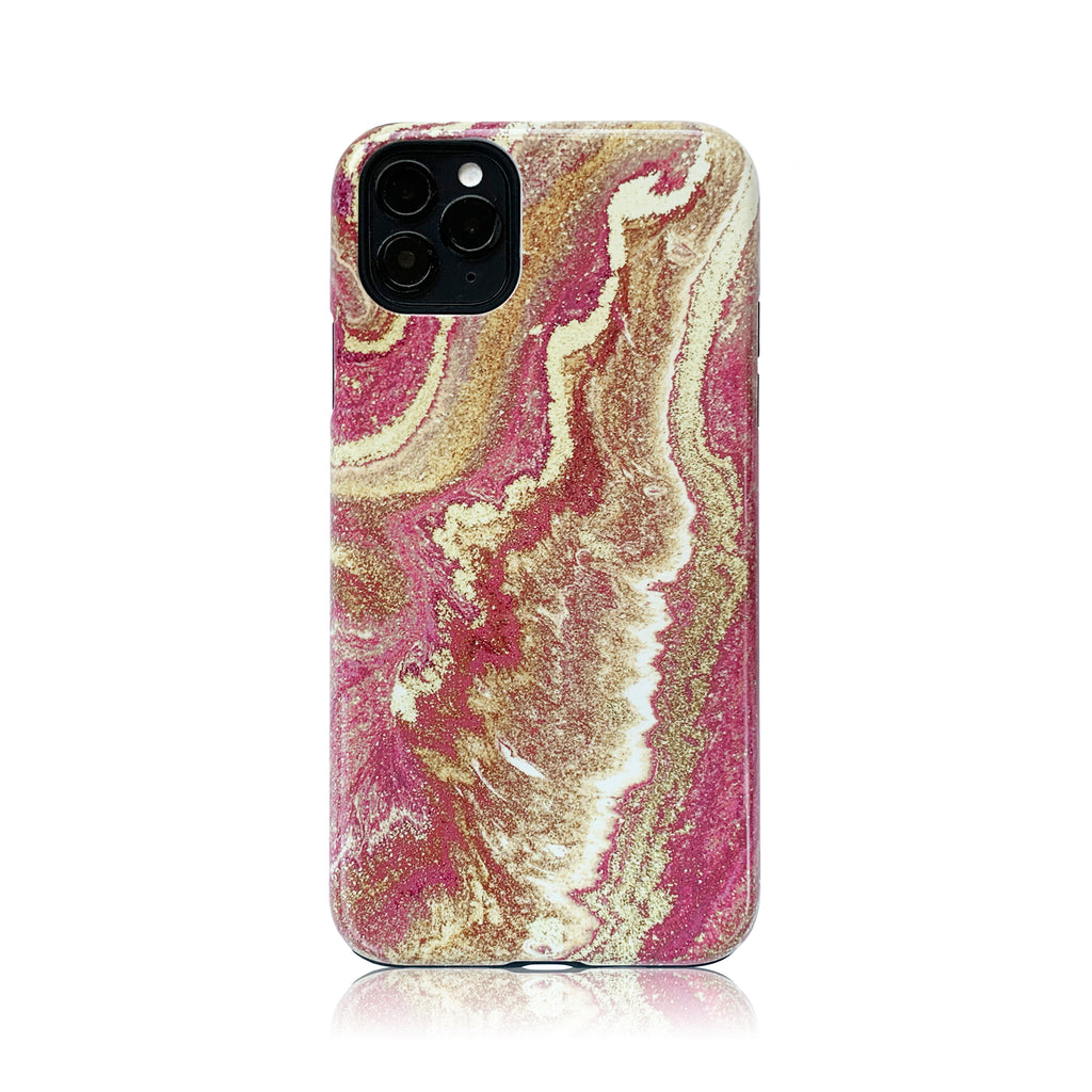 Pink Marble Hybrid Case