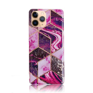 Purple Rose Gold Plated Silicon Case
