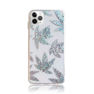 Silver Flowers Silicon Case
