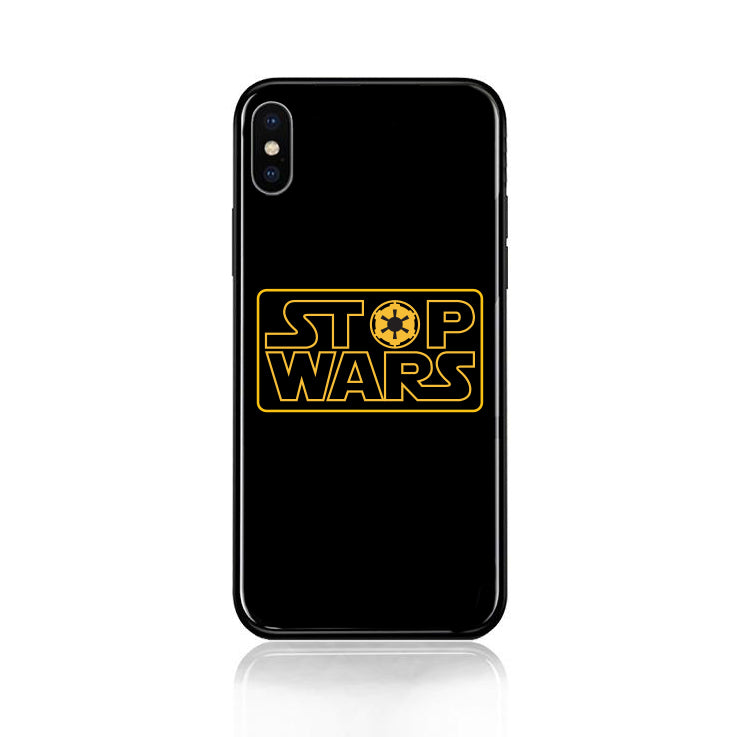 Stop Wars Tempered Glass Case