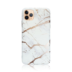 White and Gold Silicon iPhone Case