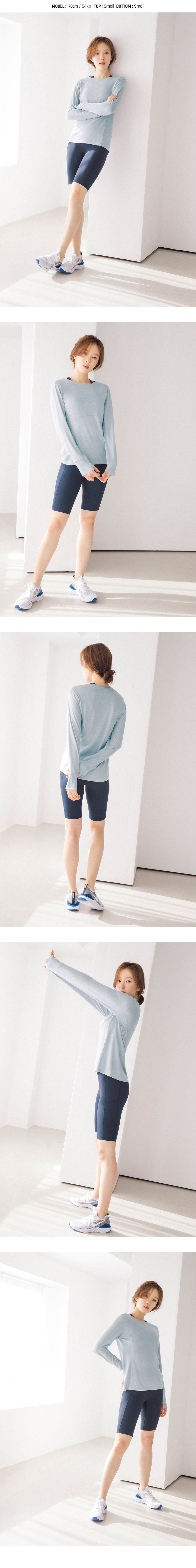 Barrel Fit Womens Easy L/S Tee-SKYBLUE_image