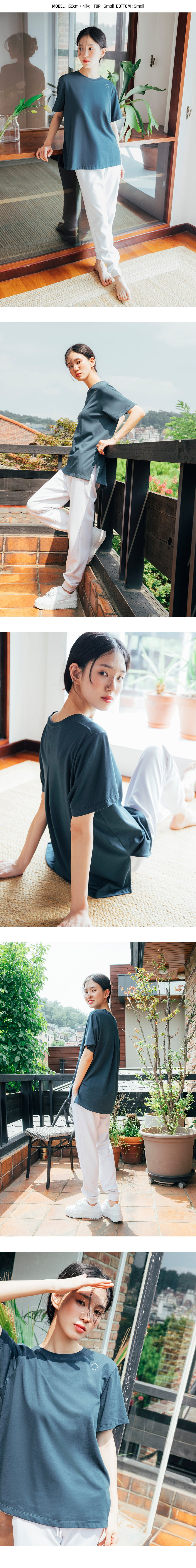 Barrel Fit Womens Semi Over S/S Tee-NEUTRAL BLUE_image