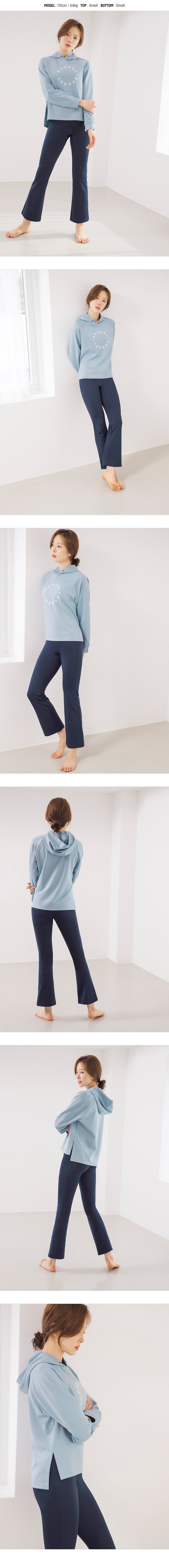 Barrel Fit Womens Slit Hoodies-SKYBLUE_image