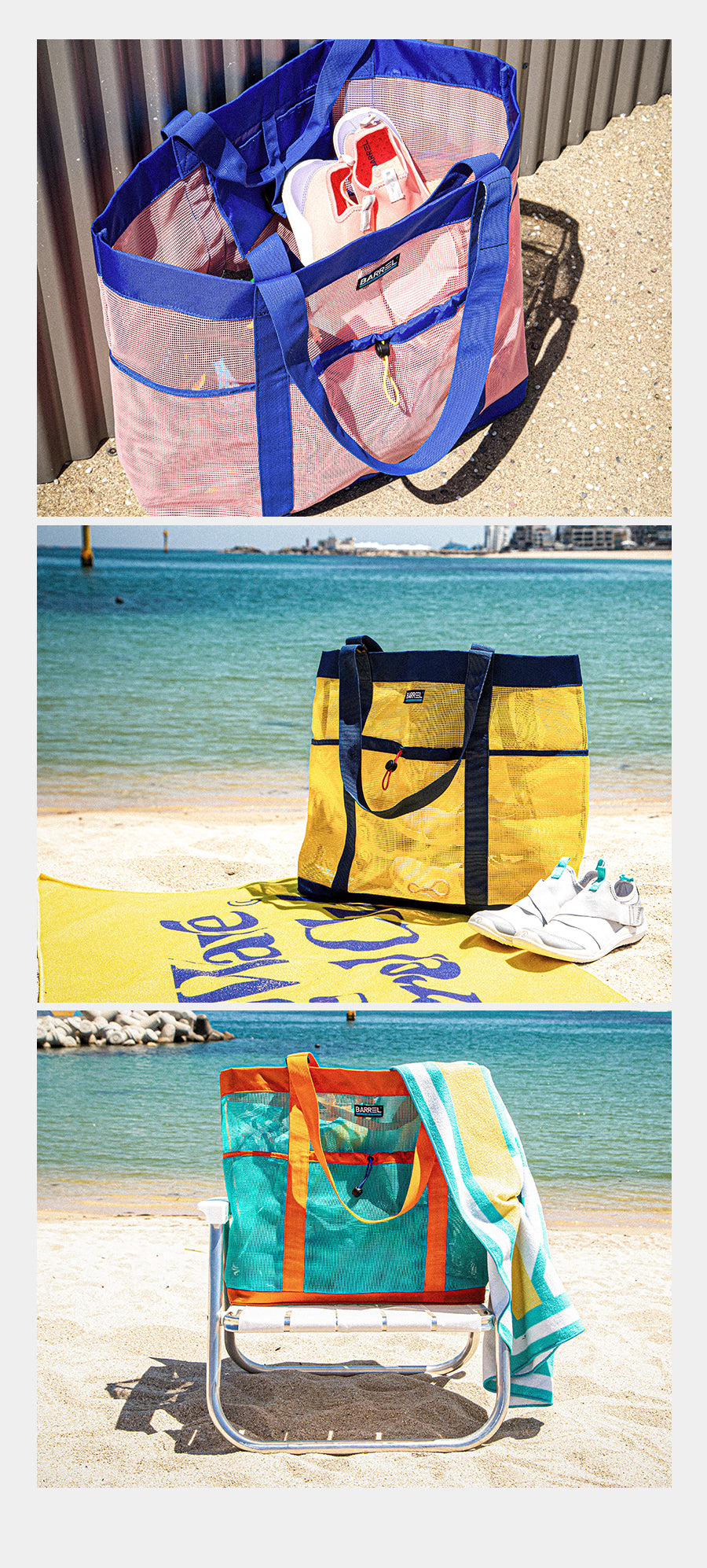 Barrel Mesh Beach Totebag 42L-YELLOW_image1