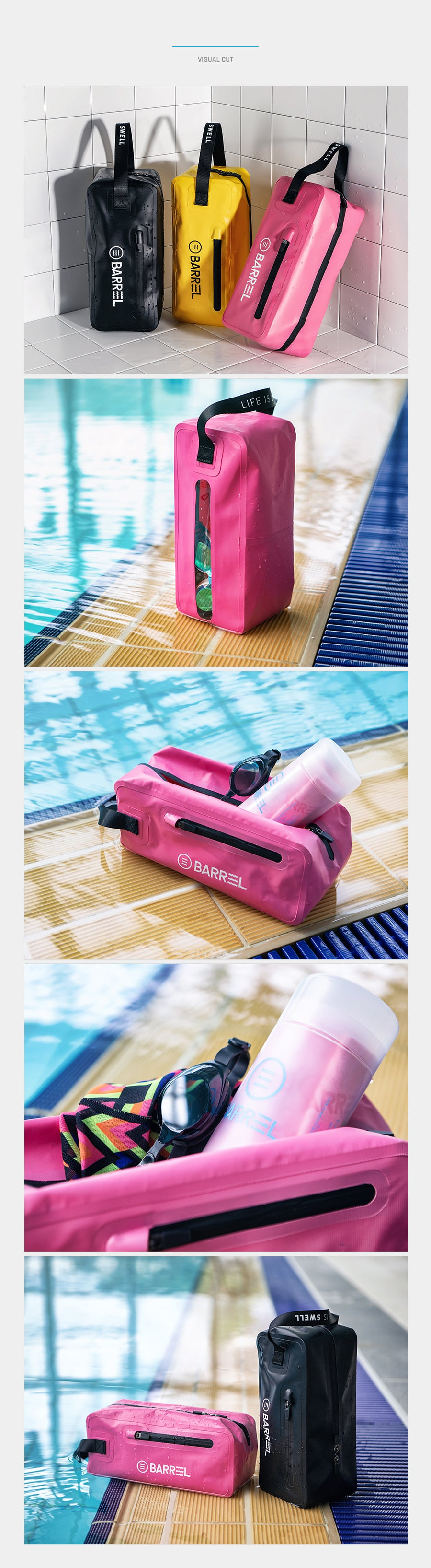Barrel Dry Pouch-NEON PINK_image