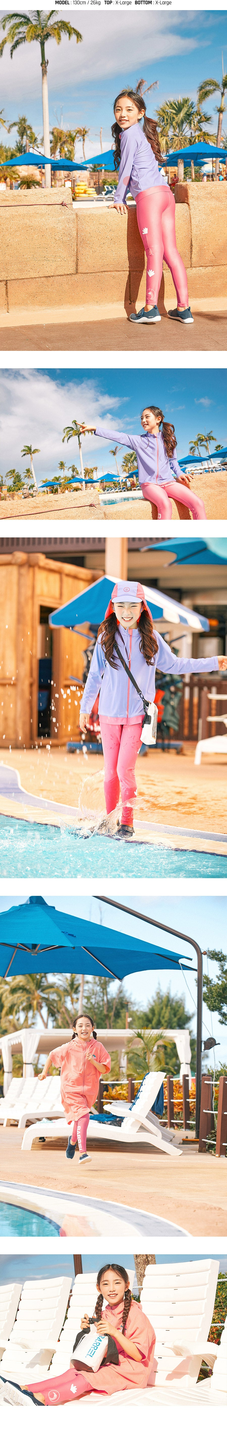 Barrel Kids Buddy Water Leggings-ROSE PINK_image