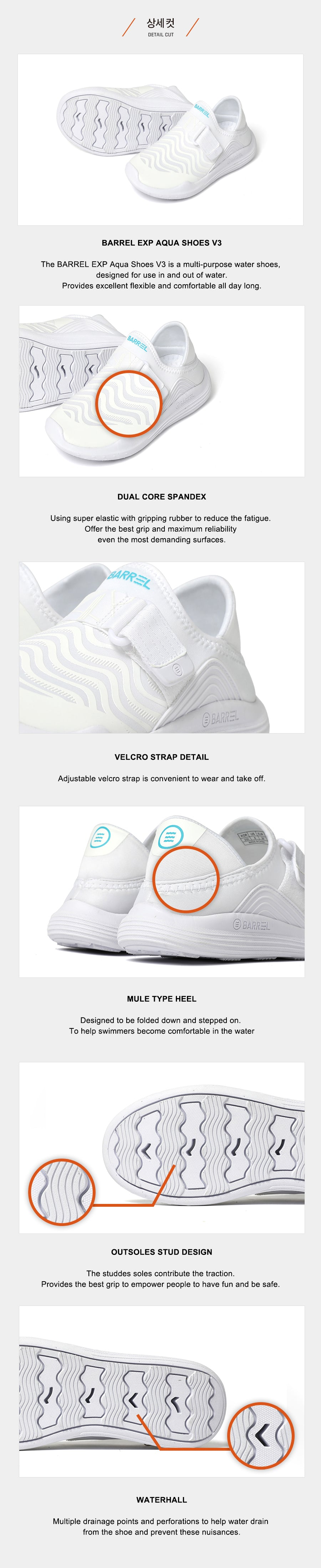 Barrel Kids EXP Aqua Shoes V3-WHITE_details