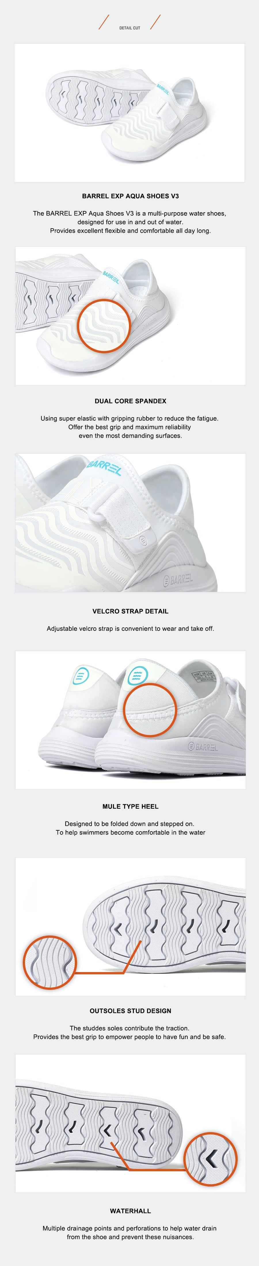 Barrel Kids EXP Aqua Shoes V3-WHITE_image