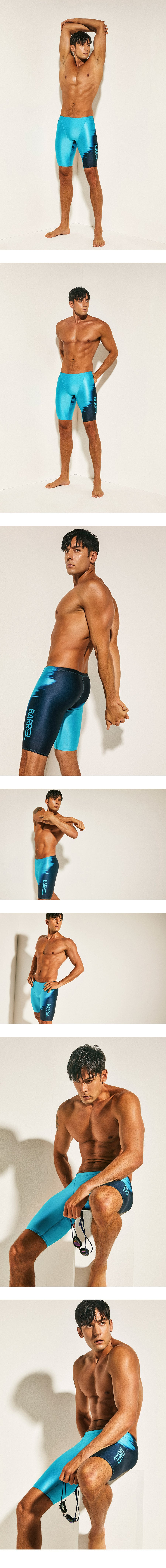 Barrel Mens Racing Fit Shadow Jammer Swimsuit-BLUE_image