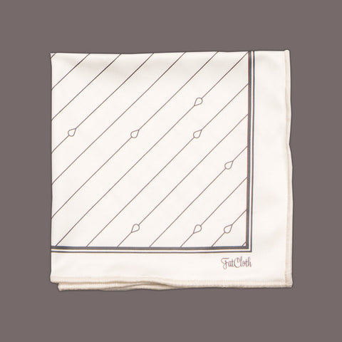 Design pocket square, pin stripe pattern, white, black & white