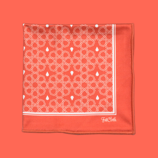 Butrus Orange <br> Pocket Square