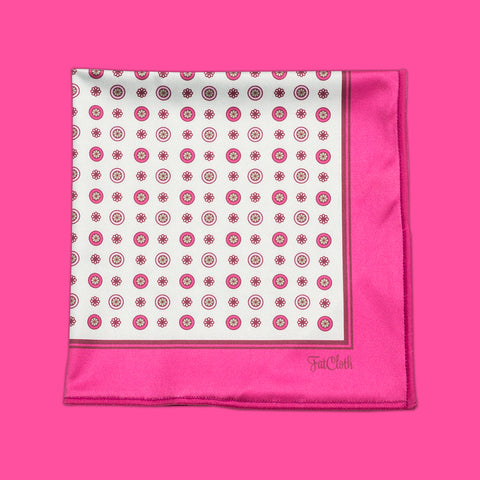 Design pocket square, classic pattern, english, british, pink, mint, green