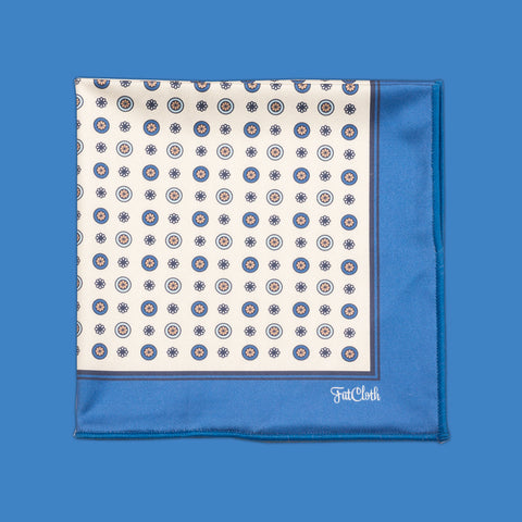 Design pocket square, classic pattern, english, british, blue, yellow
