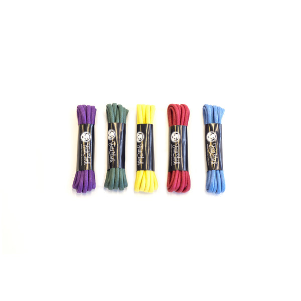 Waxed Cotton Shoelaces 5-pack