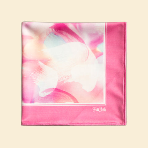Design pocket square, watercolour glow pattern, pastel, petals, pink
