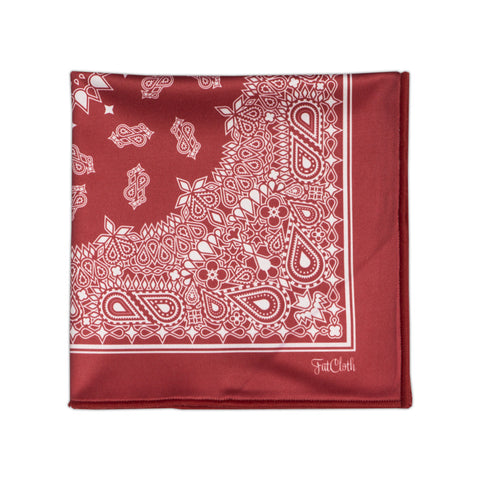 Design pocket square, bandana pattern, red, white, bloods
