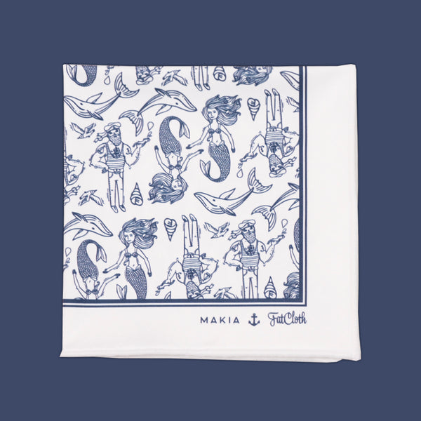 Makia Seagull <br> Pocket Square