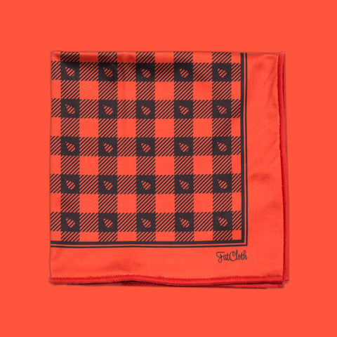 Design pocket square, lumberjack pattern, tartan, grid, red, black