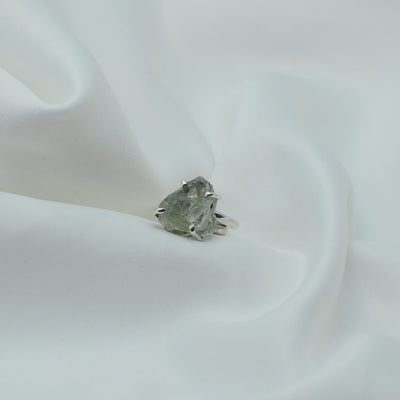Raw Aquamarine Ring - One size adjustable - mycrystalcrushmycrystalcrush