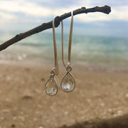 Clear Quartz drop earrings - mycrystalcrushMyCrystalCrush