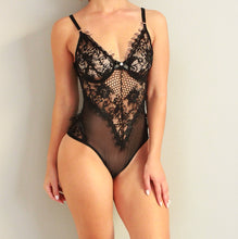 Load image into Gallery viewer, LOVE LUXE BODYSUIT - BLACK
