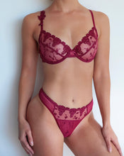 Load image into Gallery viewer, ROSE FLORA LACE BRA SET